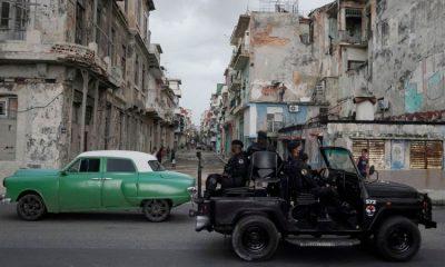 Un sector de La Habana vieja militarizado. Foto: Getty.
