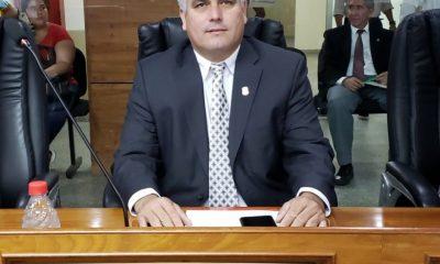 César Ojeda, intendente. (Foto Delpinews)