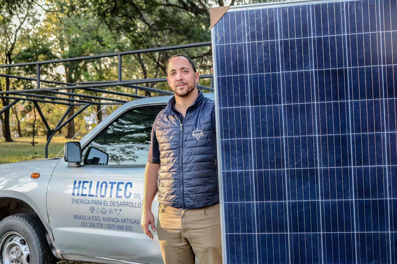 Pablo Zuccolillo fundador de Heliotec. Foto: Gentileza.
