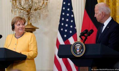 """Joe Biden calificó a la canciller alemana como una """"gran amiga, una amiga personal y amiga de Estados Unidos"""". Foto: Picture Aliance."""