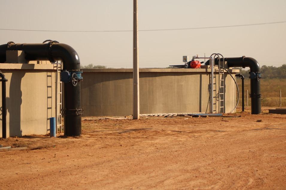 Planta de distribución de agua potable de Essap en el Chaco Central. Foto: Gentileza.