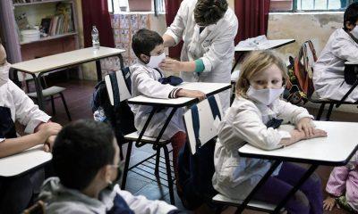 En Uruguay los estidiantes vuelven todos a las aulas desde el 2 de agosto. Foto: Télam.