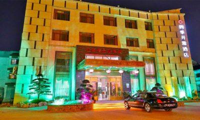 Vista del hotel Siji Kaiyuan, en la provincia de Suzhou. Foto: Agencias.
