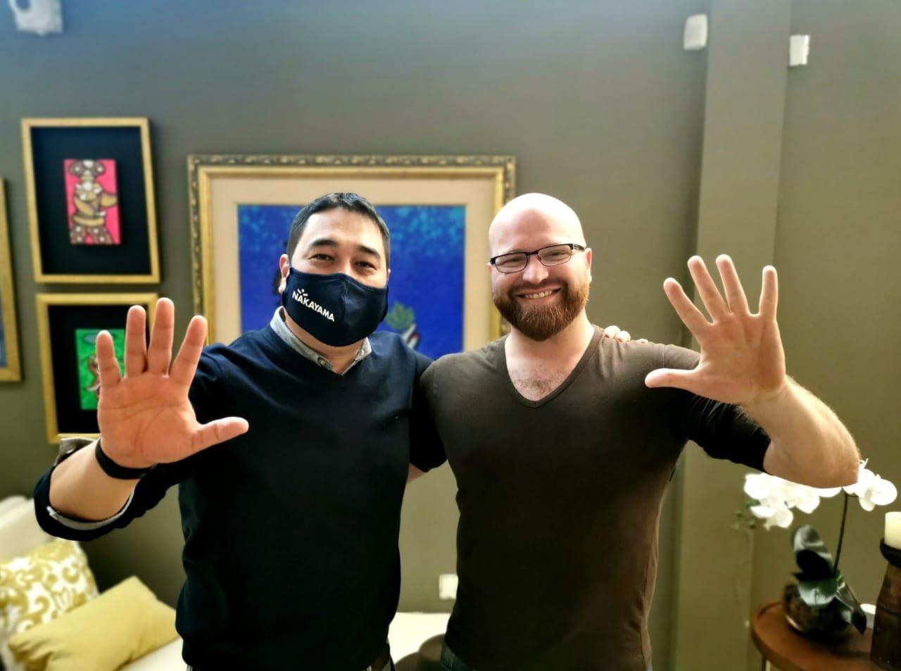 Grassi sumó su apoyo a Nakayama. (Foto Gentileza)
