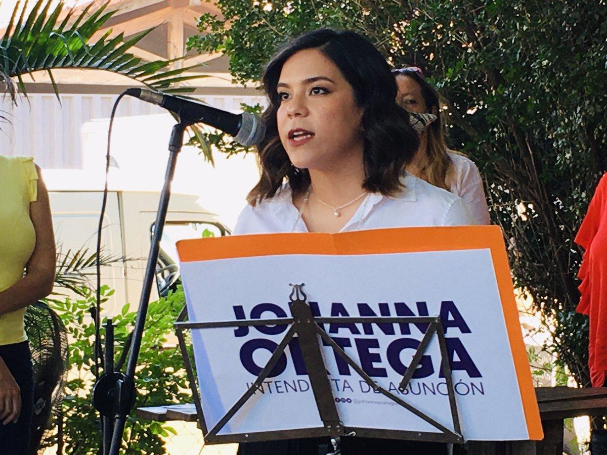 Candidata a intendencia de Asunción Johanna Ortega. (Gentileza)