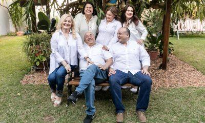 El clan Grütter: Carmen (la matriarca), Karen, Liz, Antonella, Don Antonio (fundador) y Juan. Gentileza.
