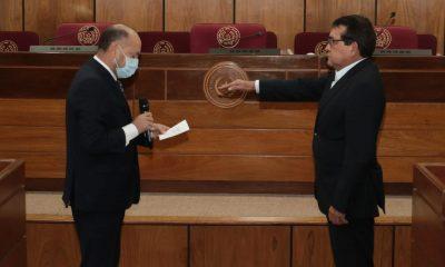 Pedro Santa Cruz, toma juramento. (Foto Senado)