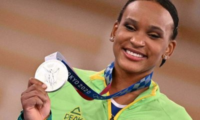 La brasileña Rebeca Andrade. Foto: France 24H.