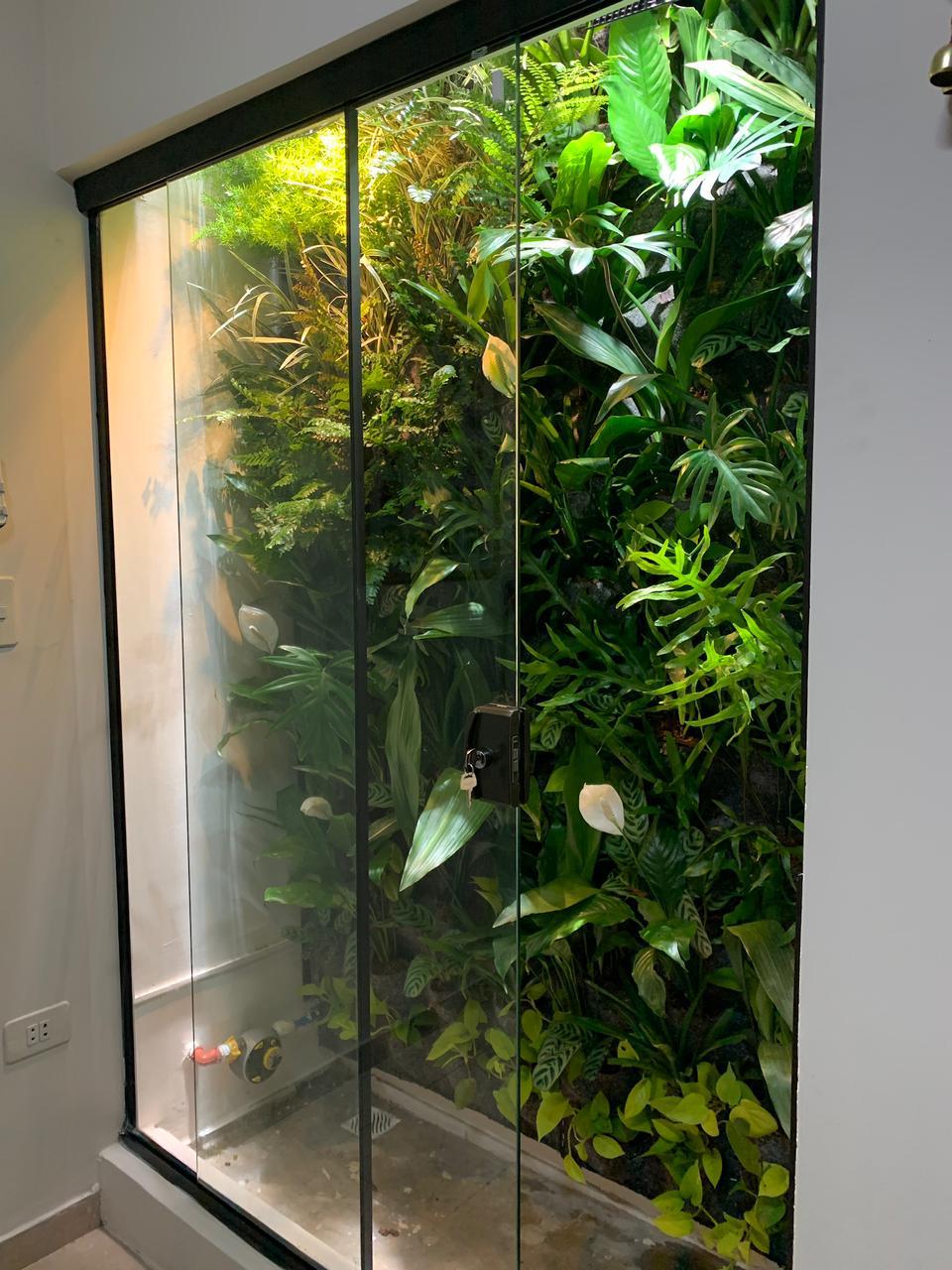Jardín vertical como plus en un edificio. Foto: DraitaGreen (Gentileza)