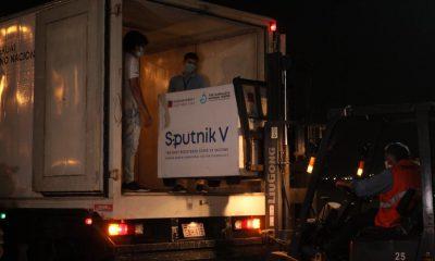 Llegó nuevo lote de Sputnik a Paraguay. Foto: Gentileza.