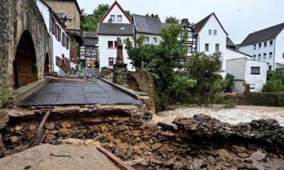 En el oeste de Alemania había ríos desbordados, árboles arrancados, carreteras y casas inundadas. Foto: elcorreo.com