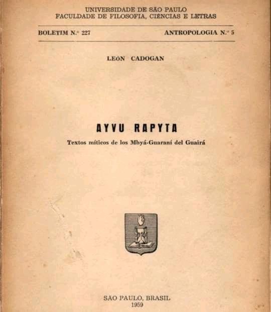 Ayvu Rapyta, primera edición. São Paulo, 1959