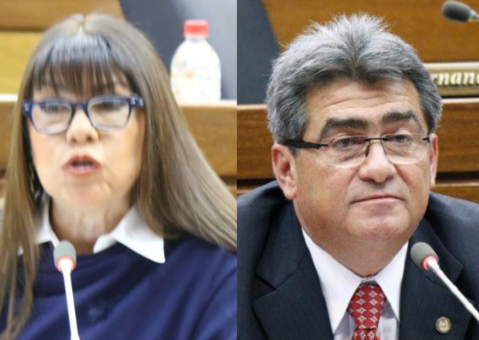 Roberto González y Celeste Amarilla tuvieron su roce.