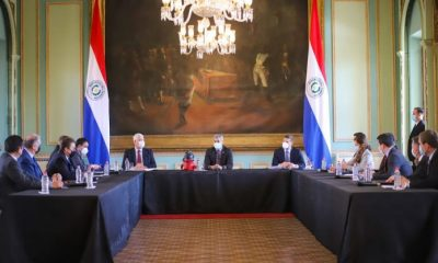 Conferencia de prensa en el Palacio de Gobierno. Foto: Gentileza.