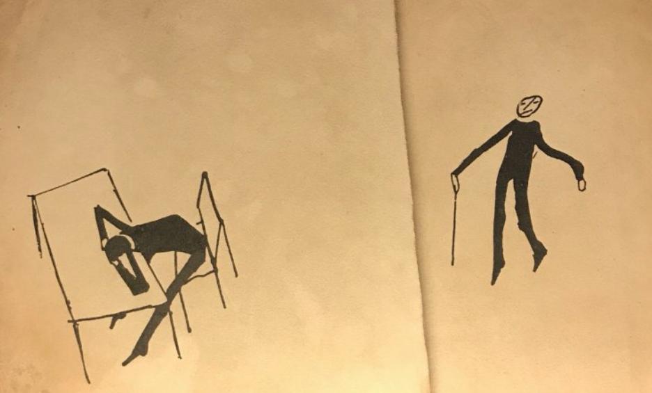 Museo Franz Kafka, Praga. Dibujos de Kafka. Cortesía