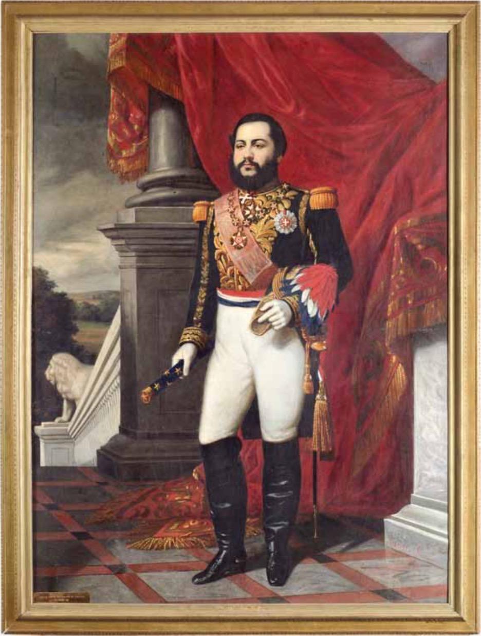 """Aurelio García, """"Retrato del Mariscal Francisco Solano López"""", 1866. Cortesía"""
