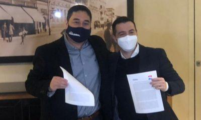 Eduardo Nakayama y Sebastián García. (Foto Radio Cáritas).