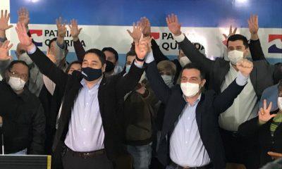 Cuando en conferencia de prensan anunciaban a Nakayama como candidato. (Foto Gentileza).