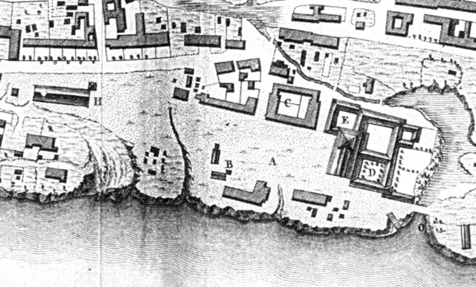 Plano de Félix de Azara, 1786. Detalle de la Plaza Mayor.