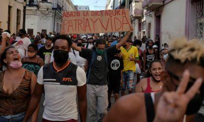 Cuba vivió este domingo protestas inéditas en su historia reciente. Foto: elconfidencial.com