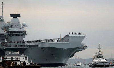 El portaaviones de la Royal Navy, HMS Queen Elizabeth. Foto: Archivo.