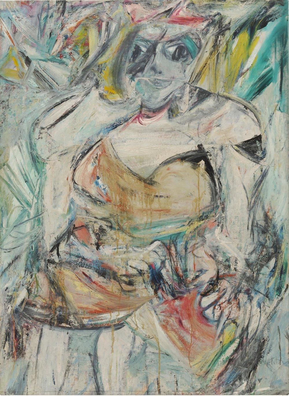 Willem de Kooning. Mujer II (detalle), 1952. Imagen que anuncia la muestra Soutine / De Kooning: Conversaciones en pintura. Colección MoMA. Cortesía (Fundación Barnes).