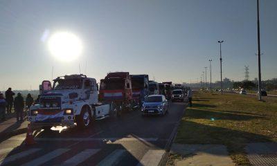 Camioneros en la Costanera de Asunción. (Foto 1020 AM)