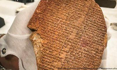 Una parte de la epopeya de Gilgamesh, el poema sumerio más antiguo. Foto: Picture Aliance.