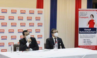 """Hace instantes, autoridades de la ANDE lanzaron la campaña """"Epaga Ikatumihaicha. (Foto ANDE)"""