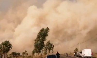 Incendio forestal en la zona de la ruta Luque-San Bernardino. (Gentileza)