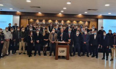 Momento de la conferencia de prensa de autoridades de Feprinco. (Unión Industrial Paraguaya)