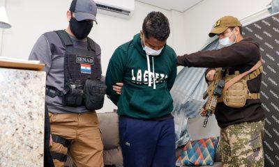 Leonardo Silva de Souza, detenido por agentes de la Senad. (Senad)