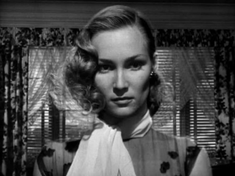 """La actriz Constance Dowling (1920-1969), la """"musa trágica"""" de Pavese, en una escena del filme Ángel negro"""