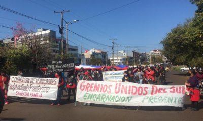 Manifestación en Encarnación. (Foto Rocío Gómez).