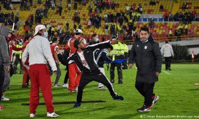 Suspenden fútbol en Bogotá. Foto: DW.