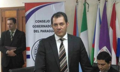 Gobernador de San Pedro, Carlos Giménez. (Foto Monumental AM).