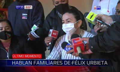 Hijas de Félix Urbieta, conferencia (Foto Captura video).