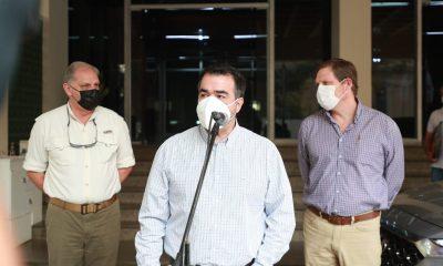Las autoridades informaron acerca de los puntos tratados en la reunión. Foto Presidencia