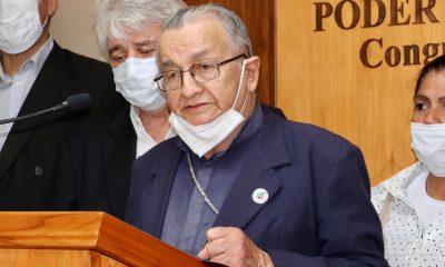Monseñor Melanio Medina. (Foto Senado).