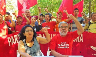 Integrantes del Partido Paraguay Pyahura. (Foto Gentileza)