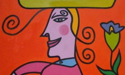 Virginia Rojas Holden, pintura sobre lienzo (detalle). Cortesía