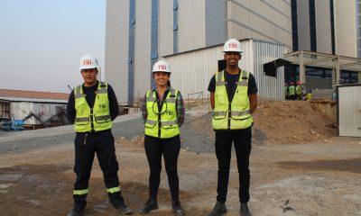 Nicolás Cabrera (25), Bárbara Lucena (22) y Daniel López (27) forman parte del equipo de Seguridad Ocupacional e Industrial. Foto: Gentileza.