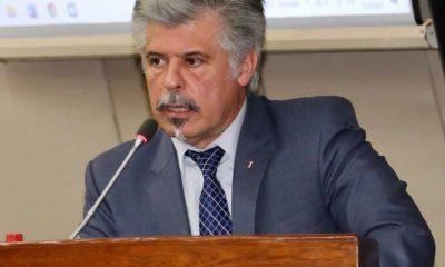 Arnalgo Giuzzio se presentó ante la Comisión Bicameral de Presupuesto. (Foto: Radio Cámara Paraguay)