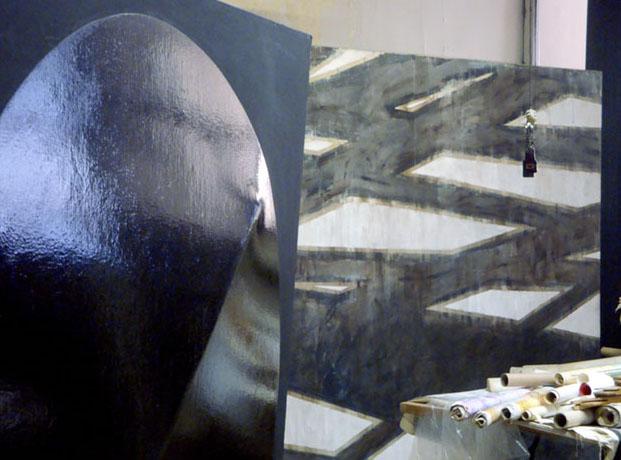 Loft de Laura Márquez en NY, 2009. Una de las piezas de su famosa serie Seis meses de silencio © Alicia Ainbinder