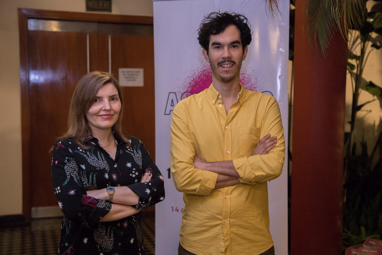 Cynthia García y Juan José Pereira, organizadores del evento.