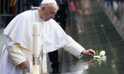 Papa Francisco en la Zona Cero. Foto: La Nación Argentina.