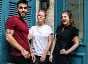Alan Bernal, Natalia Calcena y Fátima Fernández Mercado. Cortesía