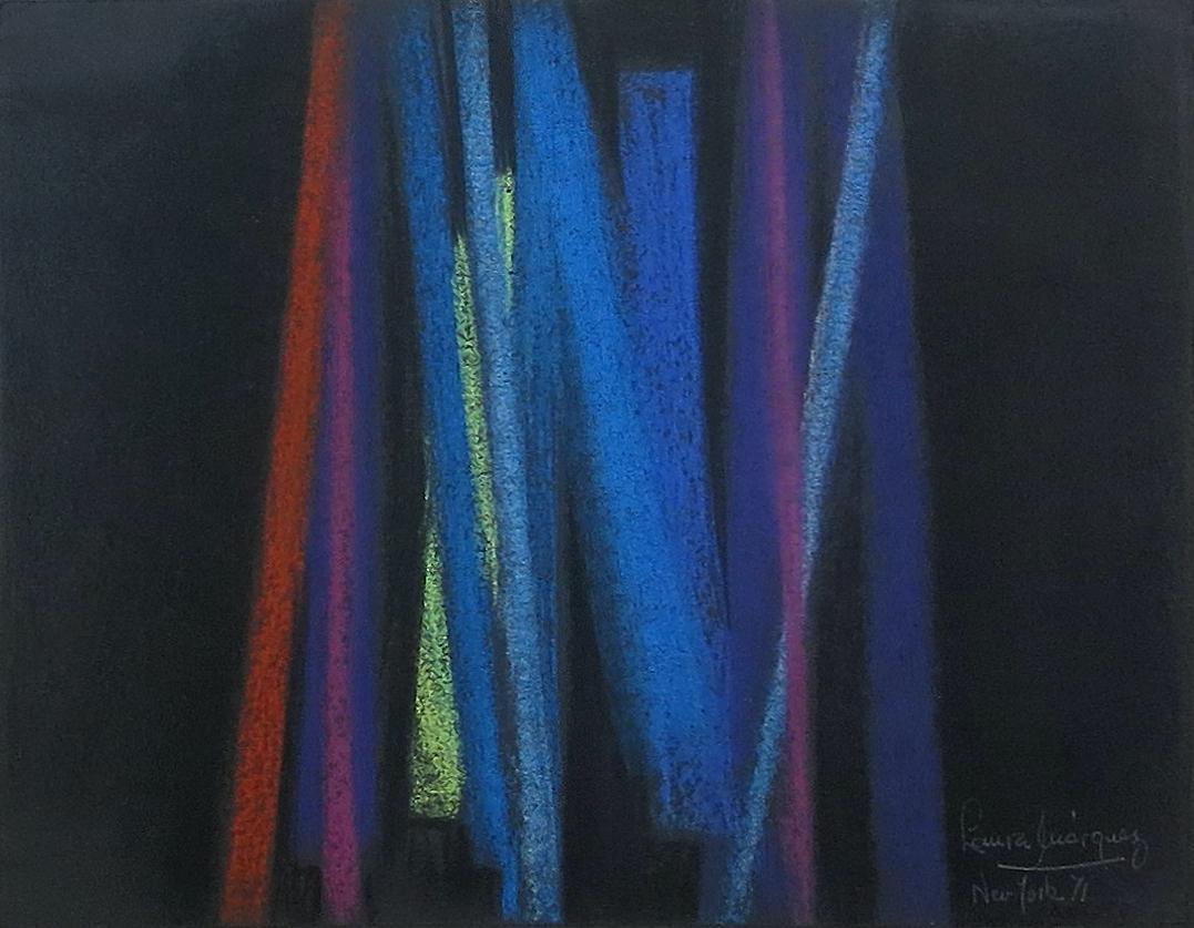 Laura Márquez. Sin título, 1971 Pastel sobre cartulina 23 x 30 cm Colección privada Cortesía Galería Exaedro