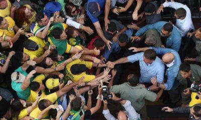 Bolsonaro en la multitudinaria marcha por la avenida Paulista. Foto: Milenio.