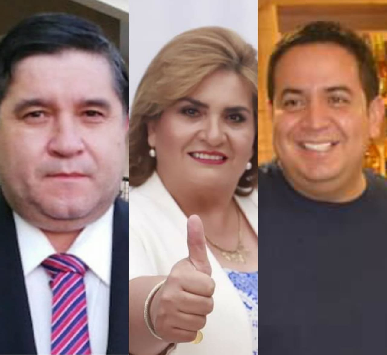 Alcides Riveros, Carolina Aranda y Ricardo Estigarribia.